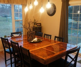 Dining Room Light - When you can't afford it, MAKE IT!
