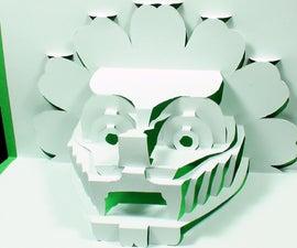 How to Make a 3D DRAGON Pop Up Card Kirigami 3D Dragon Head Greeting Card - TCGames HD!