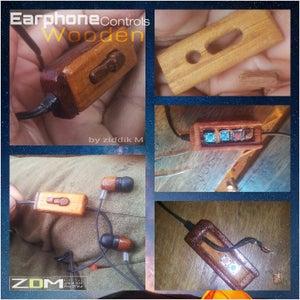 Wooden Earphone Remote Control