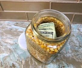 Popcorn Kernel Jar Diversion Safe
