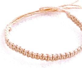 DIY How to Make a Basic Hemp Bracelet Step by Step