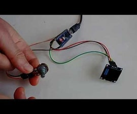 Arduino Nano: Simple SSD1306 I2C OLED Analog Display With Visuino