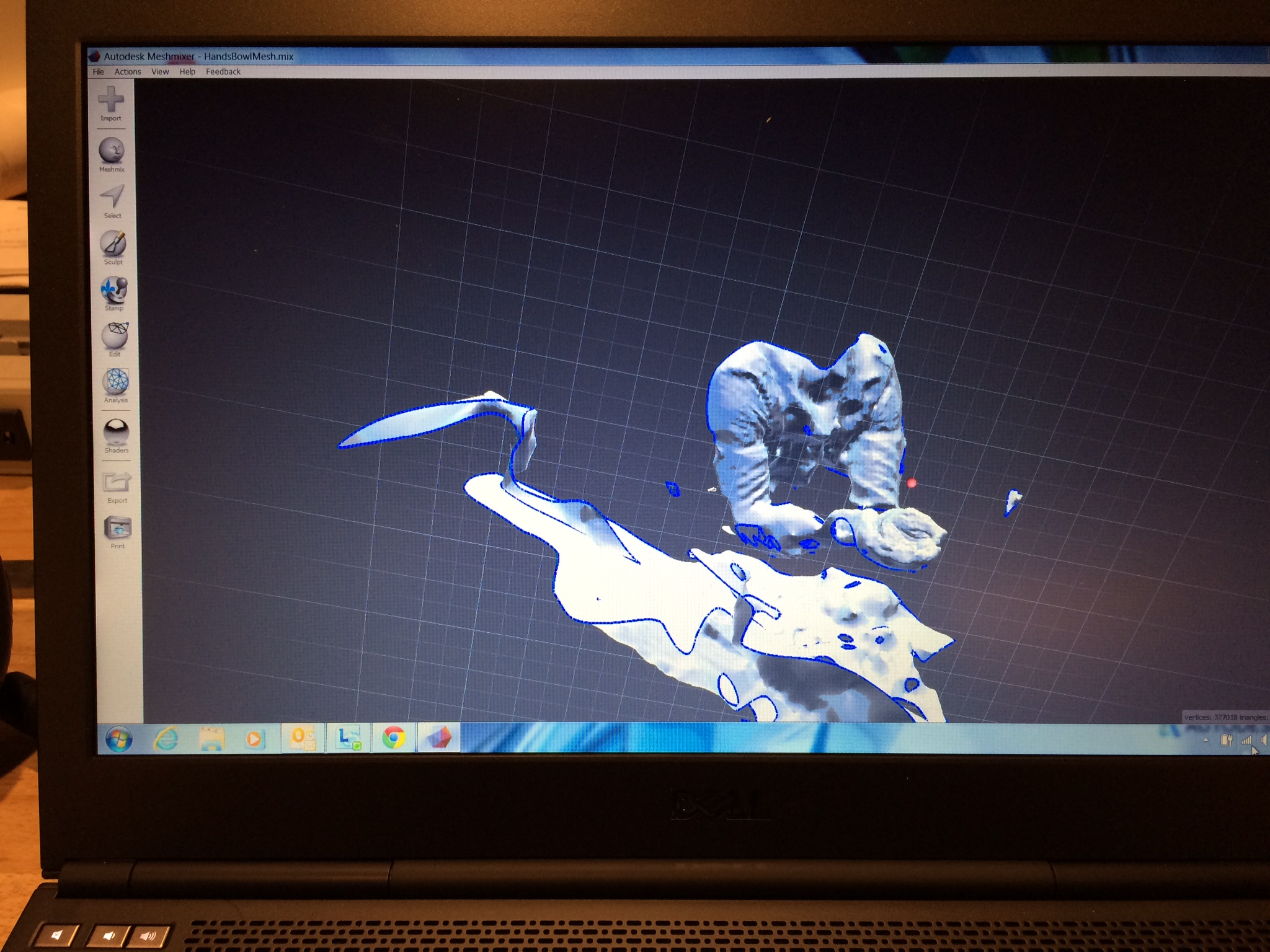 Picture of 3D Capture to Inventor