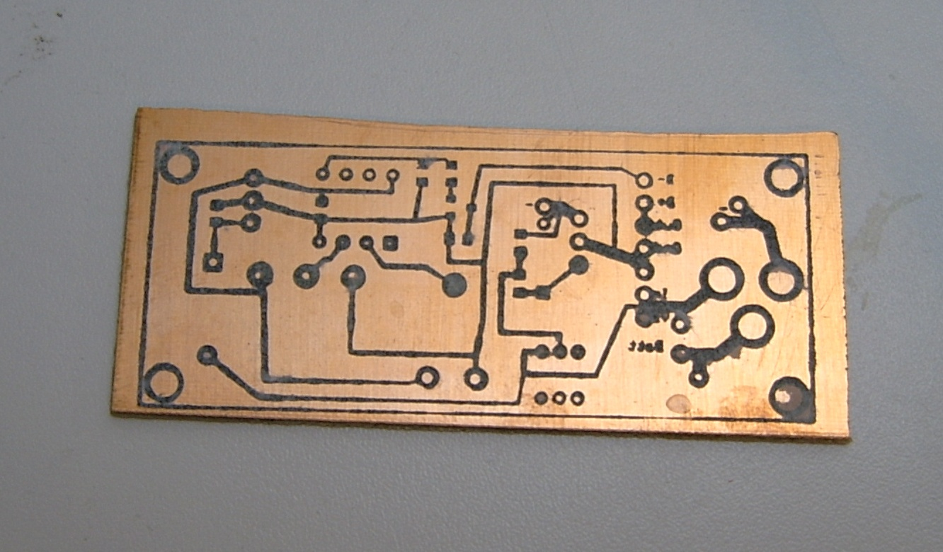Picture of Etch-resist for the Circuit Boards