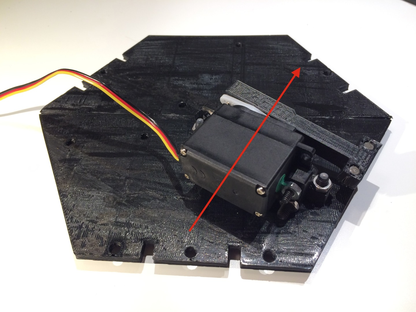Picture of Attach One Servo Assembly to Top Plate
