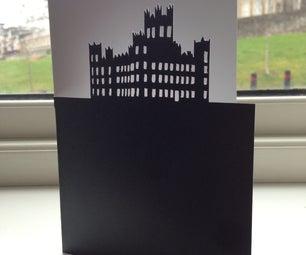 Downton Abbey Cut Silhoutte Greetings Card