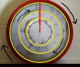 DIY Inverted Clock (circular Clock)