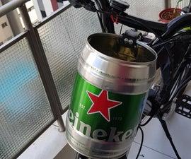 Heineken Keg Bicycle Basket