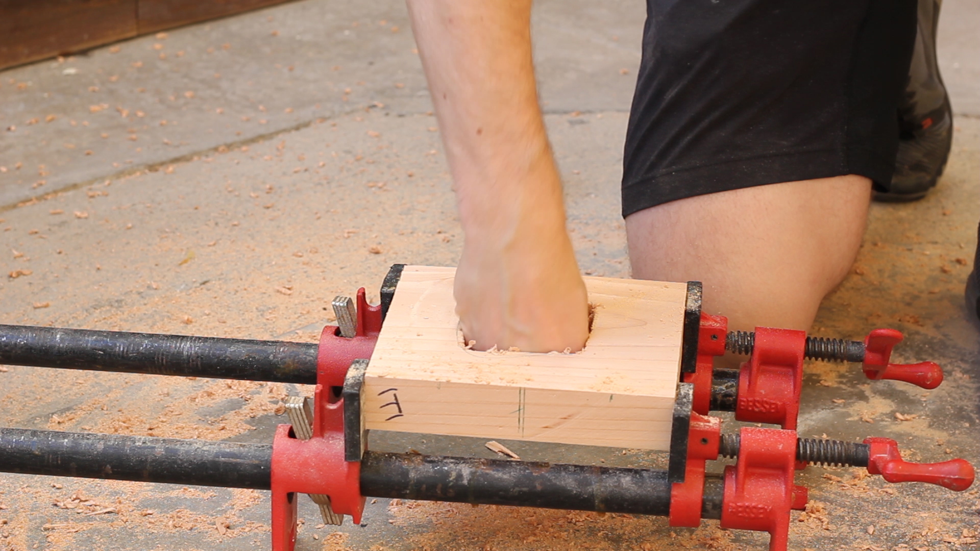 Picture of Drilling Your Glove Hole