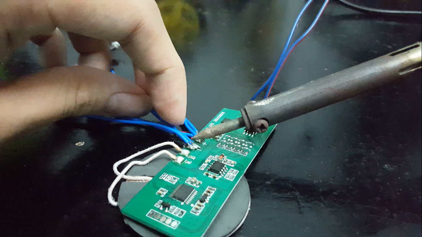 Picture of Modifying the Output LED on Our Q Charger