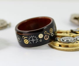 Wooden Steampunk Ring