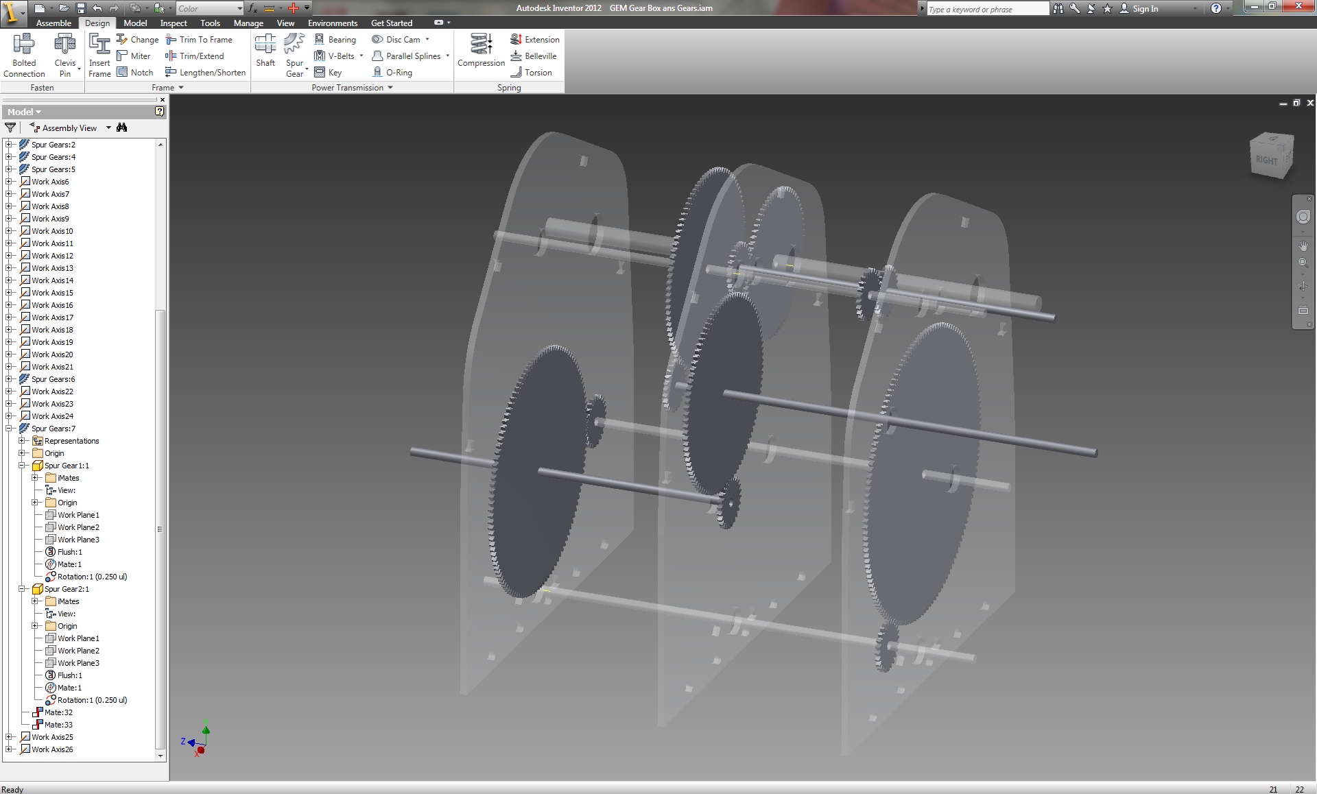 Picture of Designing the Gear Box