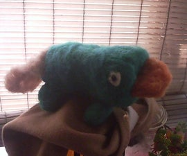 needle felted perry the platypus