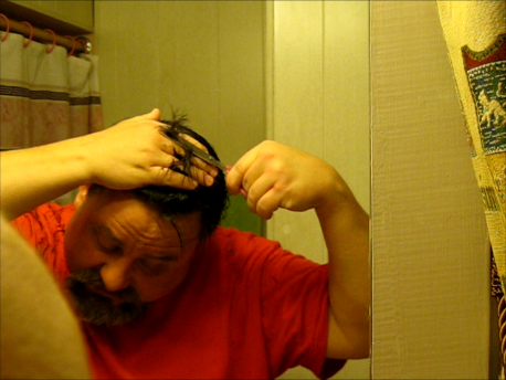 Picture of Cut the Hair on Top of Your Head Next.