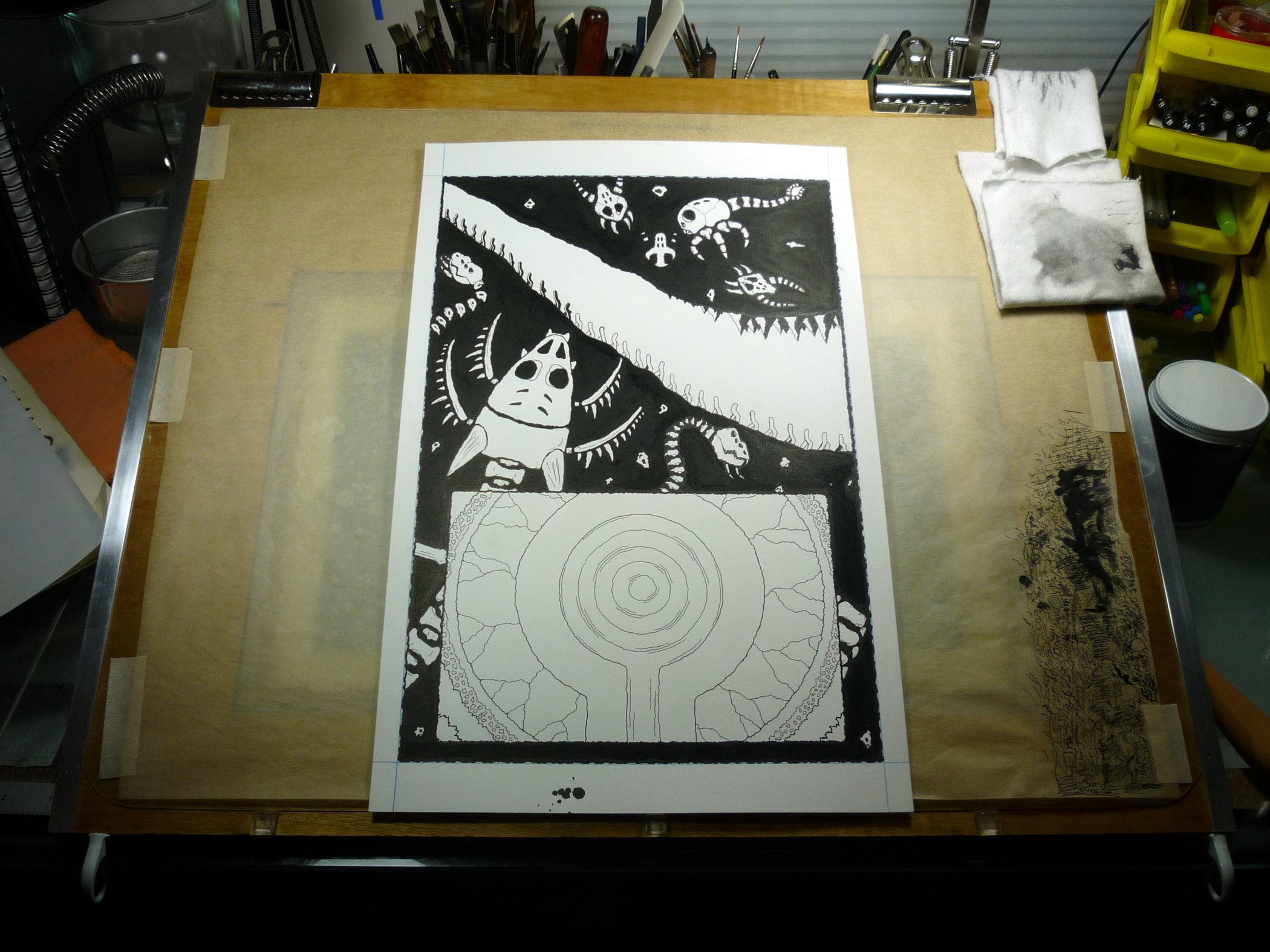 light table drawing board 4 steps