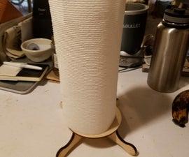 Laser Cut Paper Towel Holder