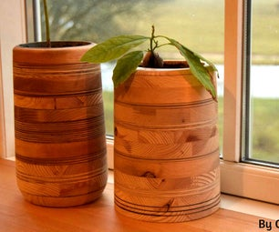 Sewer Pipe/scrap Wood Planters