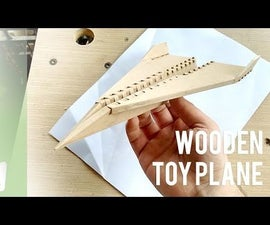 Wooden Toy Plane With a MDF Sheet