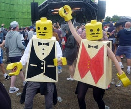 His and Hers LEGO costumes