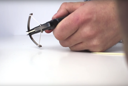 How to Make a MINI CROSSBOW / HACK PENS !