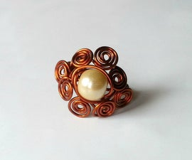 DIY Swirl-wrapped Bead Ring