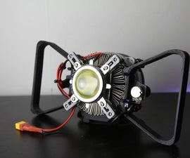 Build Your Own Compact 3D Printed 100w Flashlight!