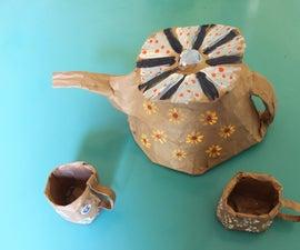 Paper Mache Tea Set and Disposable Tea Party!