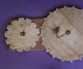 """Working Wooden """"Mayan Sacred Round"""" Calendar"""
