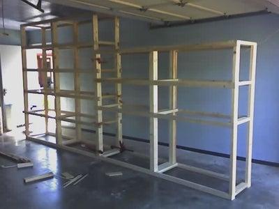 Assemble Legs to Shelves