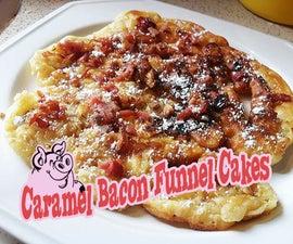 Caramel Bacon Funnel Cakes