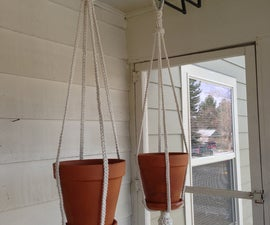 How to make a plant hanger out of rope