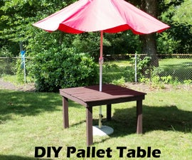 DIY PALLET TABLE-100% PALLET WOOD
