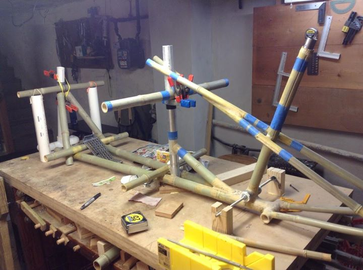 Picture of Move the Scaffold to Allow Assembly of Head Tube Section and Cargo Bay