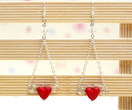 How to Make Easy Earrings With Headpins and Eyepins for Valentine's Day
