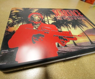 UV Printed and Laser Engraved Laptop