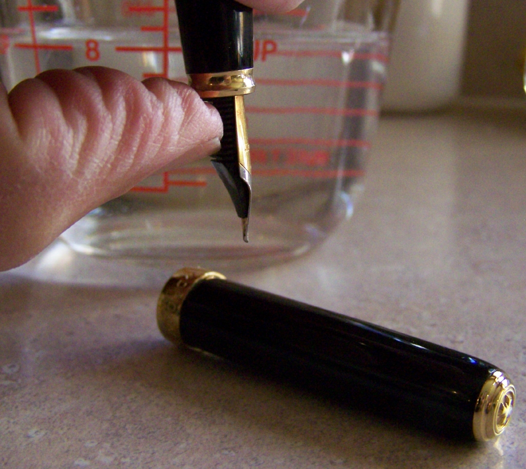 Picture of Restoring Proper Nib to Feeder Fit
