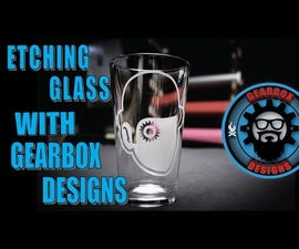 How to etch a design on a beer glass.