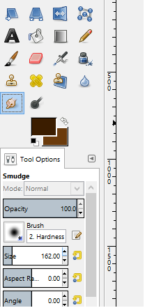 Picture of Equip the Smudge Tool and Set the Size As You Wish. (Reccomendation: 160)