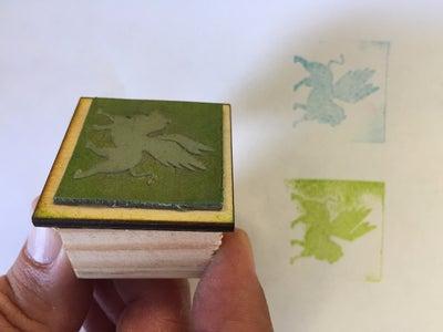 Laser Cut Rubber Stamp Design