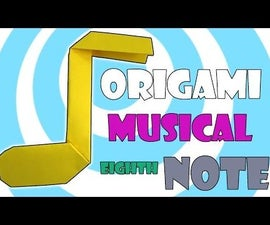 Origami Music Eighth Note Video Instructions