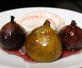 Flaming Baked Figs