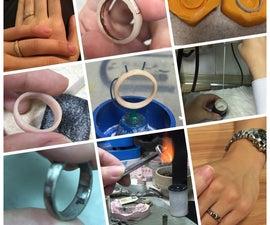 Wedding band / Ring With Lodestar Dental Gold