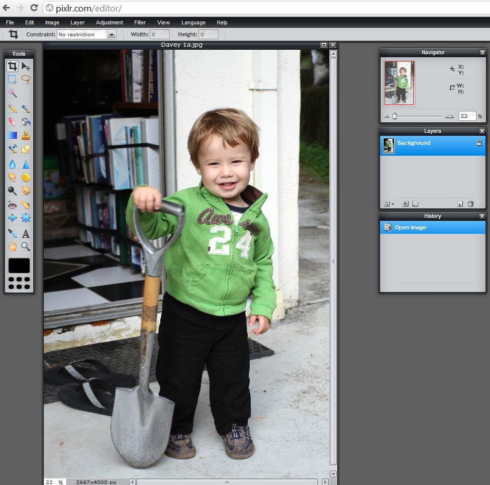 Picture of A Quick Overview of Pixlr's Layout