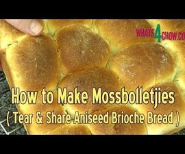 How to Make Mossbolletjies - South Africa's Traditional Brioche - Aniseed Flavored Tear & Share Bread