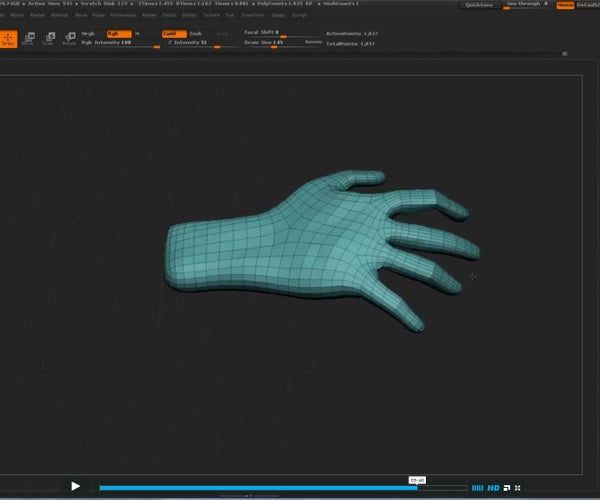 ZBrush: Simple Hand Mesh From Alpha