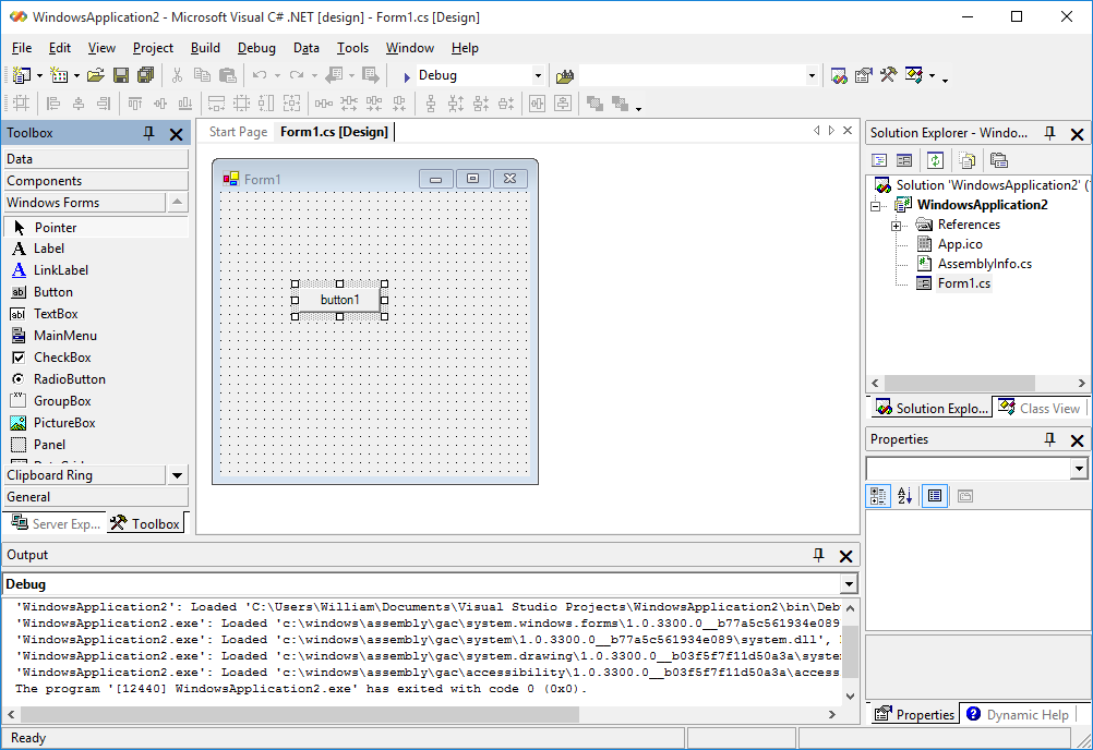 Picture of Open Up Visual Studio