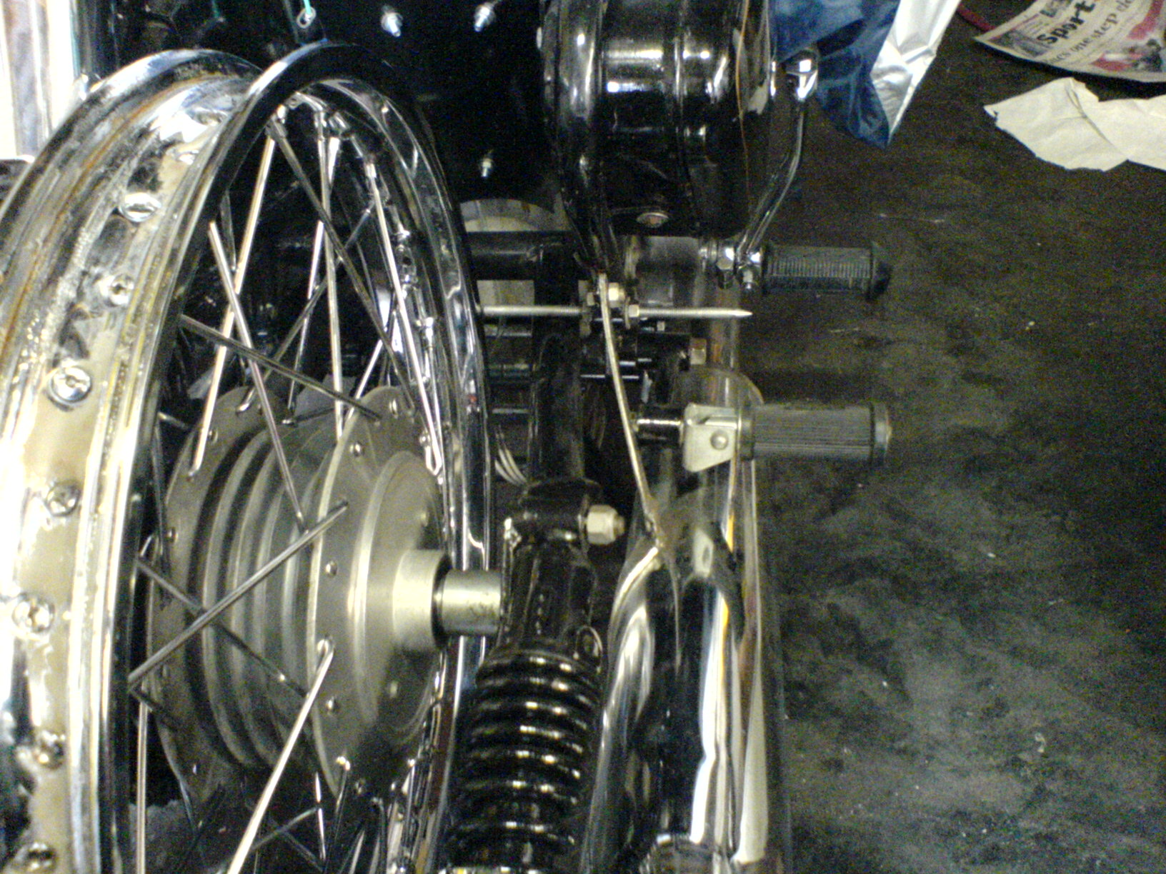 Picture of Centering the Wheel on the Bike
