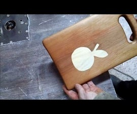 Cutting Board With a Decorative Insert