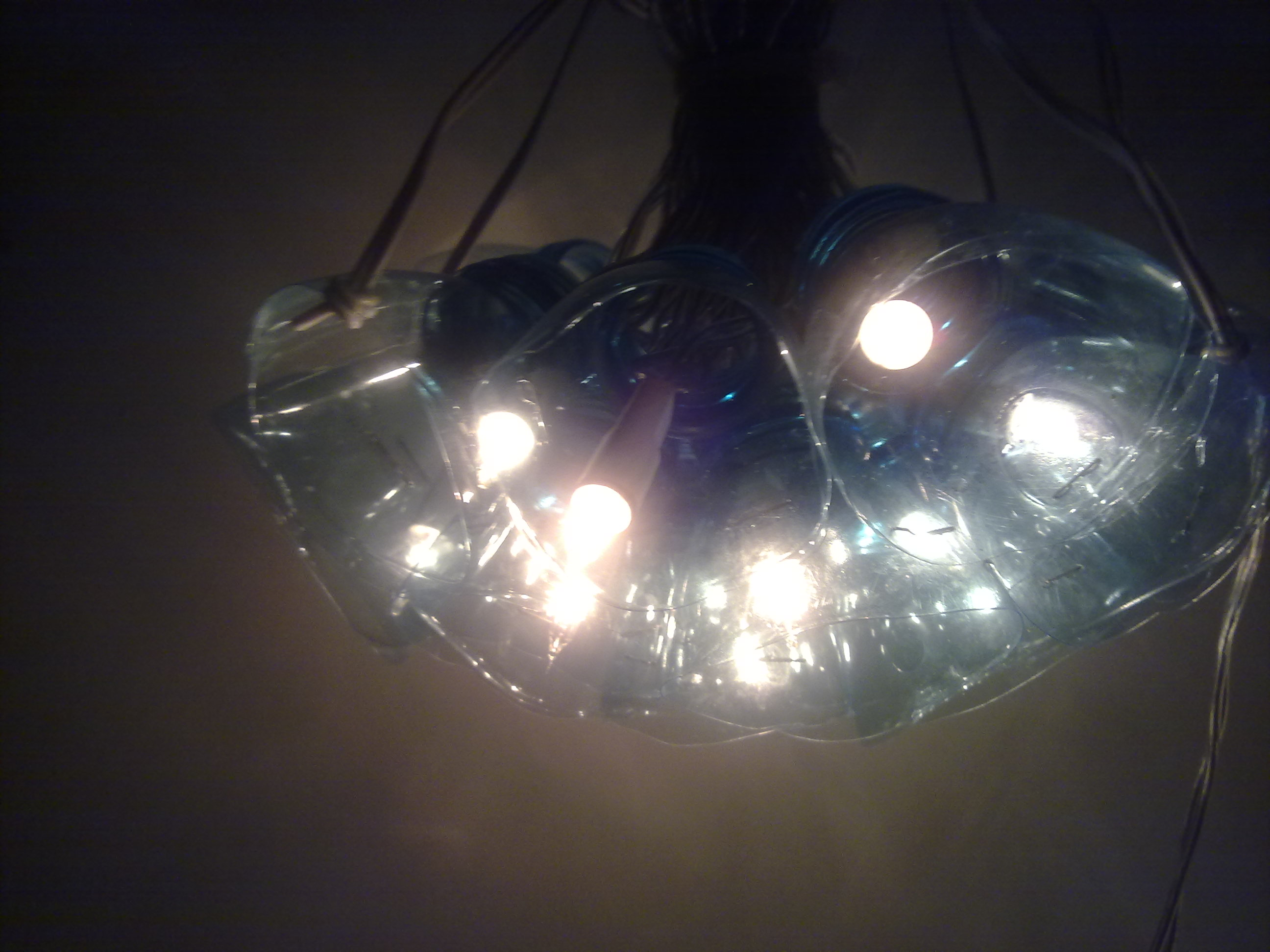 Picture of Ceiling Lamp With Water Bottles