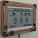 Steampunk Weather Monitor